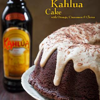 Chocolate Kahlúa Cake with Orange, Cinnamon and Cloves.