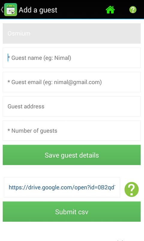 RSVP Manager- screenshot