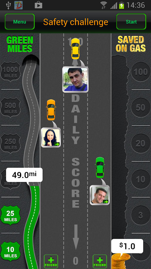 Drivewise.ly – with friends! - screenshot