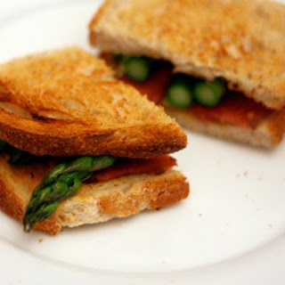 Asparagus and Bacon on Buttered Toast