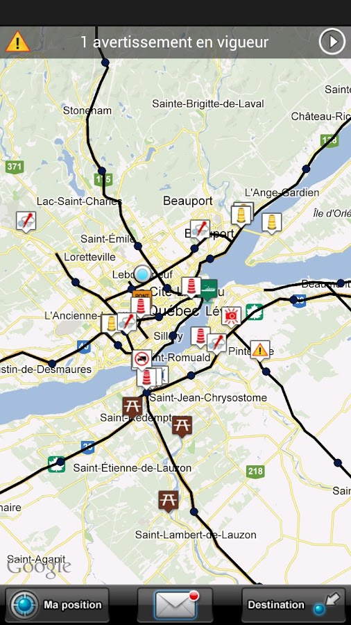 Québec 511 - screenshot