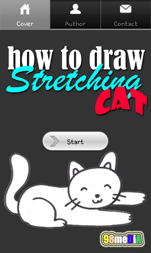 How to Draw Stretching Cat