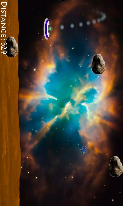 Alien Asteroid Racer HD - screenshot