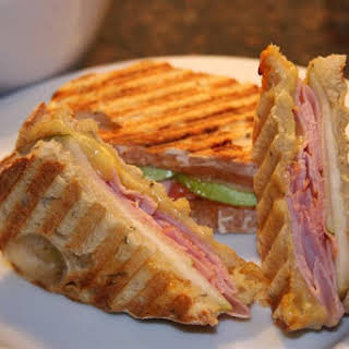 Sweet and Spicy Ham and Cheese Panini.