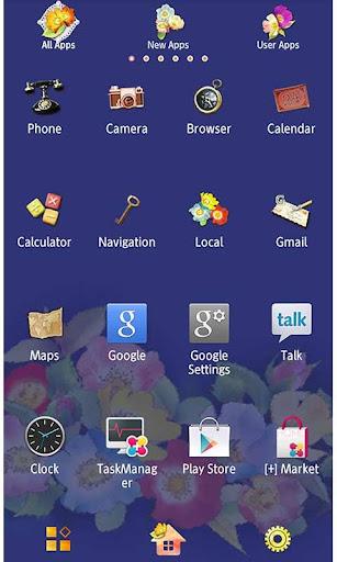 Cute Theme-Navy & Roses- 1.0 Windows u7528 2