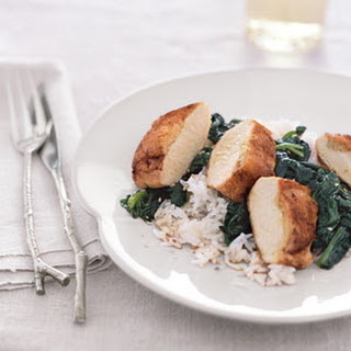 Ginger-Stuffed Chicken with Sesame Spinach.