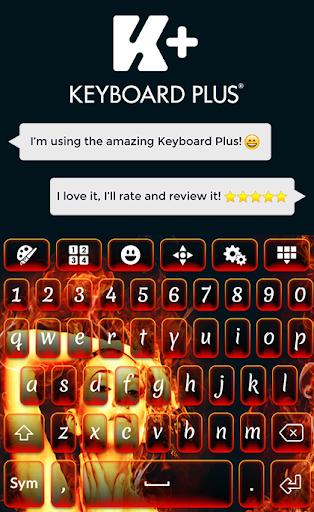 炎のキーボードのテーマ