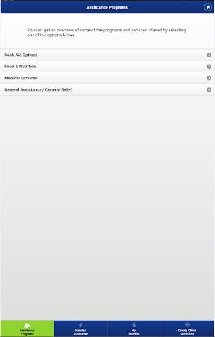 CalWIN Mobile Application Screenshot