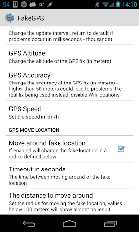 Fake GPS Go Location Spoofer Screenshot