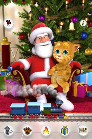 Talking Santa meets Ginger - screenshot