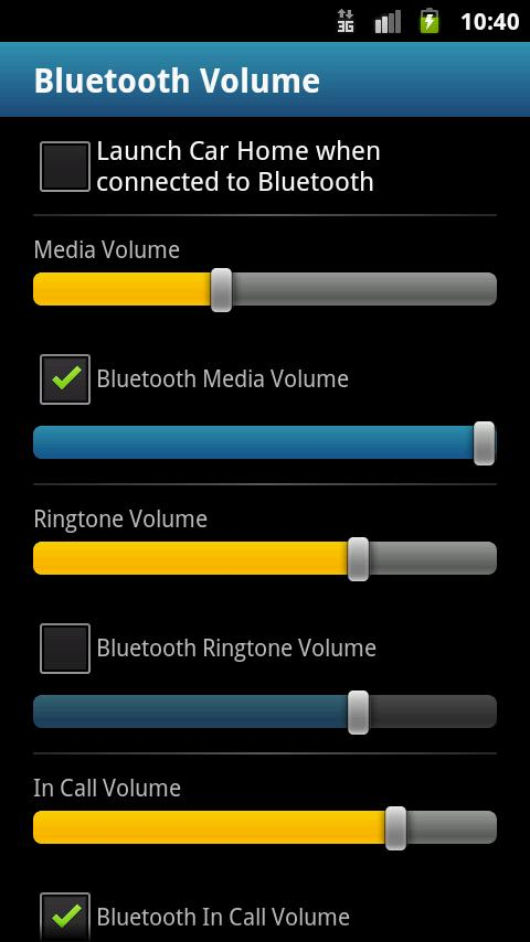 Bluetooth Volume - screenshot