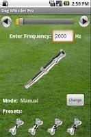 Screenshot of Dog Whistler Pro