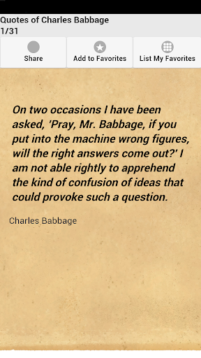 Quotes of Charles Babbage