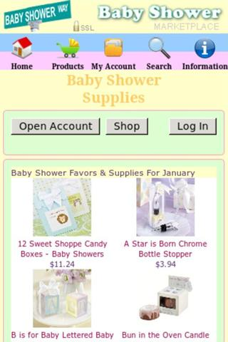 Baby Shower Favors + - screenshot