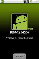 Screenshot of Dial Calling Card