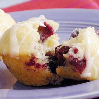 Polenta-Blueberry Cakes.