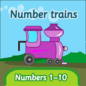 Number trains: numbers 1-10