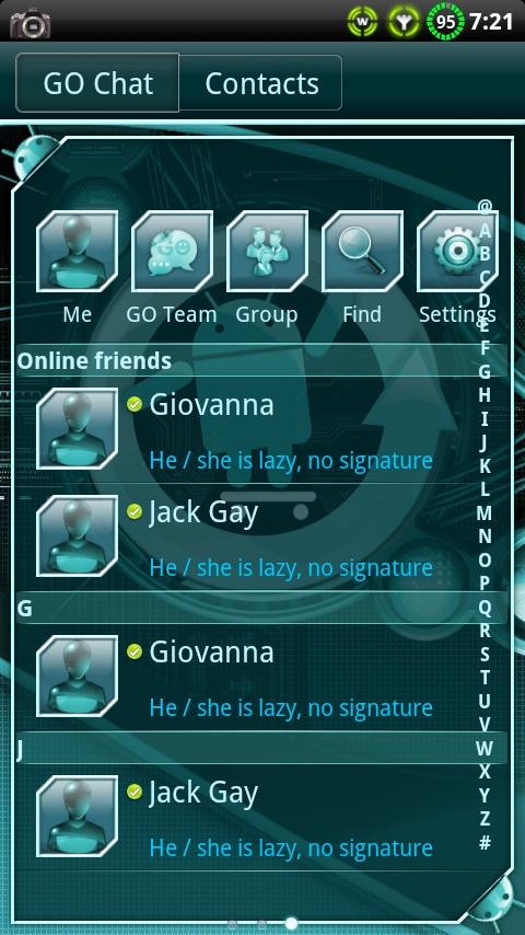 Cyanogen GO SMS Theme- screenshot