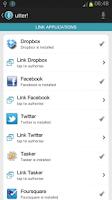 Screenshot of utter! Voice Commands BETA!