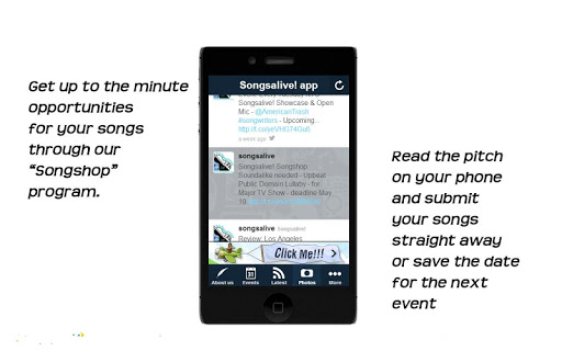 Songsalive Mobile App