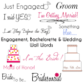 Wedding & Engagement Stickers