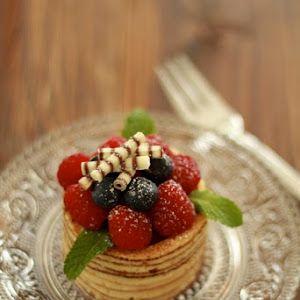 Chocolate Triffles With Berries.