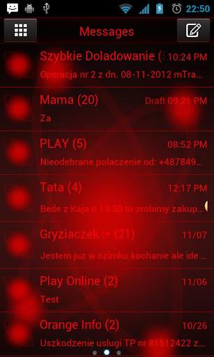 GO短信Pro的紅色軌道