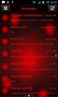 Red Orbit Theme for GO SMS Pro- screenshot thumbnail