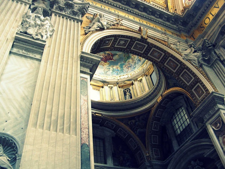 Interior of St. Peter's Basilica, Vatican City.