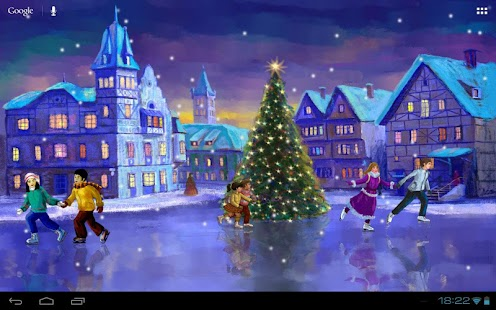 Christmas Rink Live Wallpaper - screenshot thumbnail