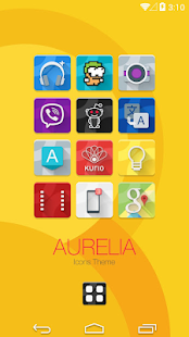 Aurelia Icons Theme Screenshot