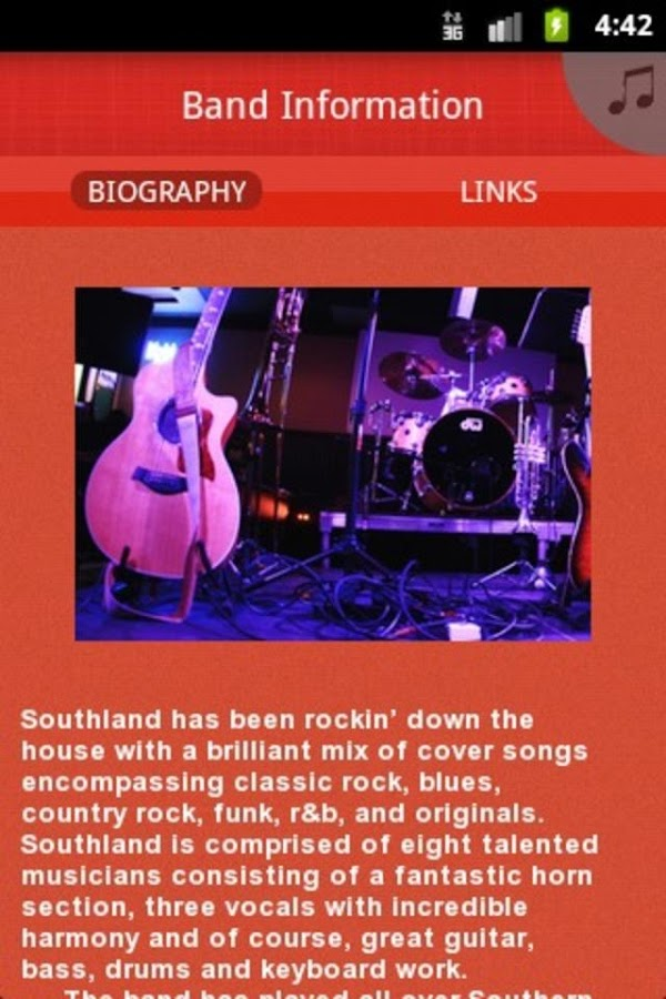 Southland Band - screenshot