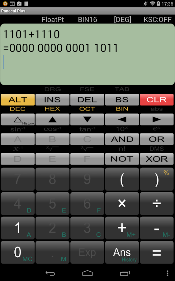 Panecal Scientific Calculator - screenshot