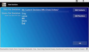 Screenshot of Wheel Of Decision