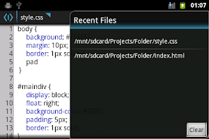 Screenshot of WebMaster's HTML Editor  Lite