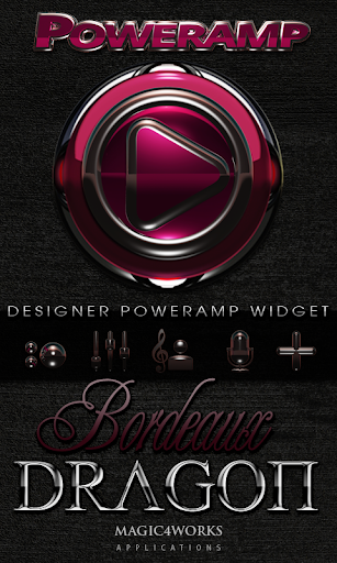 Poweramp Widget Bordeaux Drago