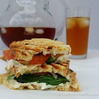 Chicken, Mozzarella and Spinach Panini.