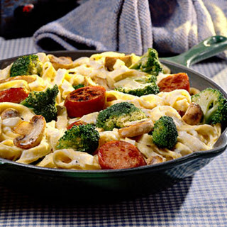 Pasta With Broccoli And Sausage.