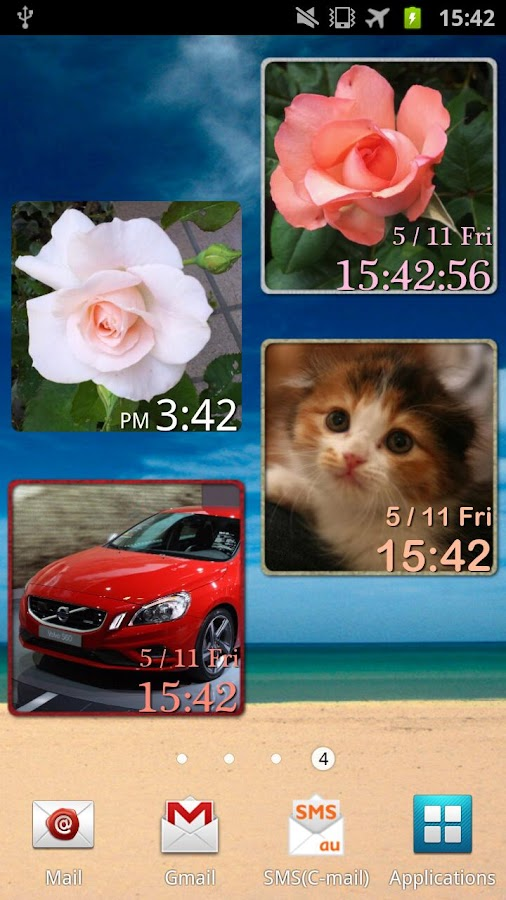 My Photo Clock (Widget)- screenshot