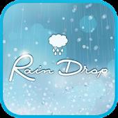 Raindrops go launcher theme