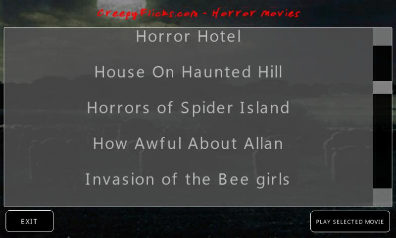 CreepyFlicks Horror Movies - screenshot