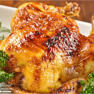 Cornish Game Hens with Bourbon Glaze.