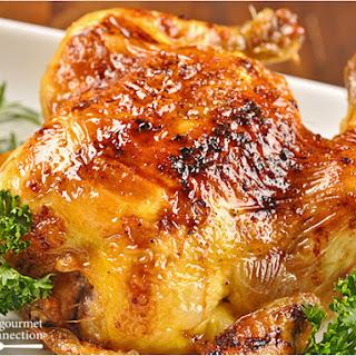 Cornish Game Hens with Bourbon Glaze.