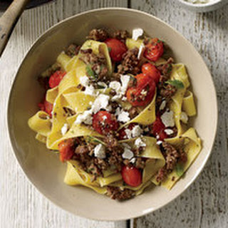 Pasta with Lamb-and-Cherry-Tomato Ragu.
