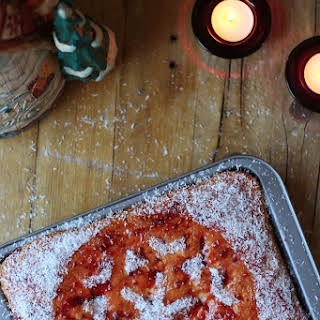 Coconut and Raspberry Cake.