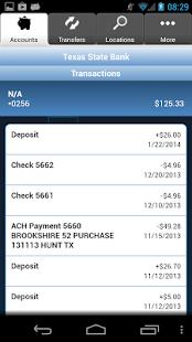 Texas State Bank Mobile Money- screenshot thumbnail