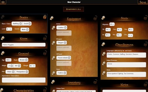GM Wizard: Character Generator- screenshot thumbnail