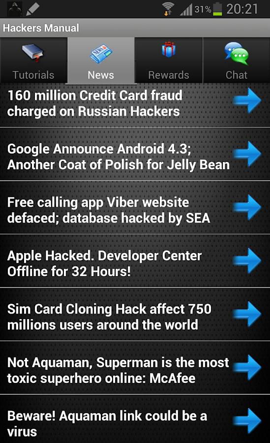 Hackers Manual Hack WiFi FB - screenshot