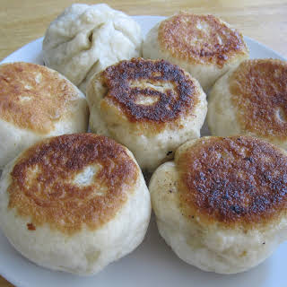 Pan Fried Steamed Buns.