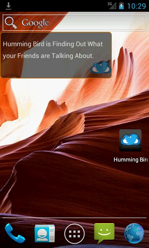 HummingBird Widget - screenshot